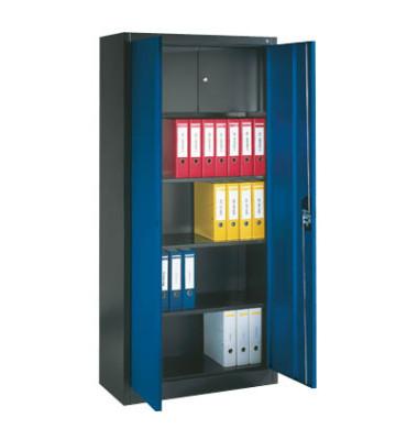 Stahlschrank mit Schließfach mit Schließfach anthrazit/blau