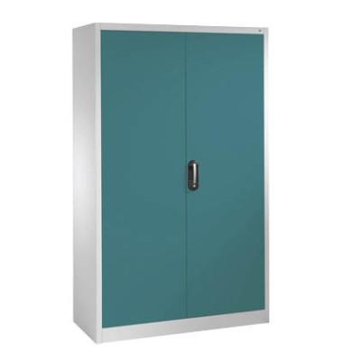 Aktenschrank 9460-000, Stahl abschließbar, 5 OH, 120 x 195 x 40 cm, blau/lichtgrau