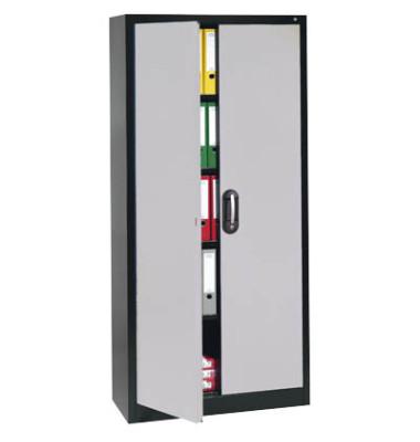 Aktenschrank 9460-000, Stahl abschließbar, 5 OH, 120 x 195 x 40 cm, alu/anthrazit