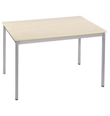 Schreibtisch ahorn/alu rechteckig 160,0 x 80,0 x 74,0 cm
