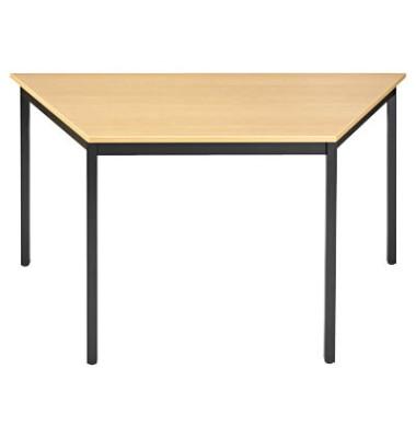 Schreibtisch 126THN buche Trapezform 120x60 cm (BxT)