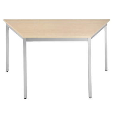Schreibtisch 126TEA ahorn Trapezform 120x60 cm (BxT)