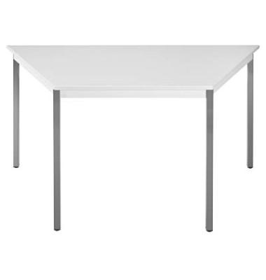Schreibtisch 147TGG grau Trapezform 140x70 cm (BxT)