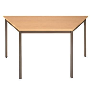 Schreibtisch 147TEA ahorn Trapezform 140x70 cm (BxT)