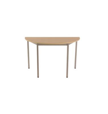 Schreibtisch 120DREA ahorn halbrund 120x60 cm (BxT)