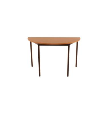 Schreibtisch 120DRPB birne halbrund 120x60 cm (BxT)