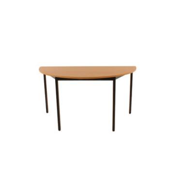 Schreibtisch 140DRHN buche halbrund 140x70 cm (BxT)