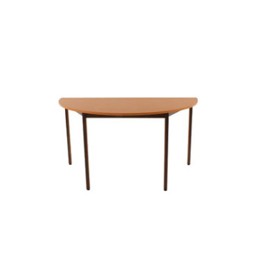 Schreibtisch 140DRPB birne halbrund 140x70 cm (BxT)