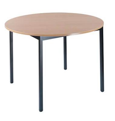 Schreibtisch 80ROHN buche rund 80x80 cm (BxT)