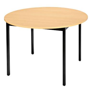 Schreibtisch 110ROHN buche rund 110x110 cm (BxT)