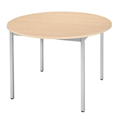 Schreibtisch 110ROEA ahorn rund 110x110 cm (BxT)