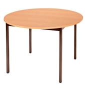 Schreibtisch 110ROPB birne rund 110x110 cm (BxT)