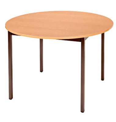 head mehrzwecktisch birnbaum braun rund 110 x 110 x 74 cm. Black Bedroom Furniture Sets. Home Design Ideas