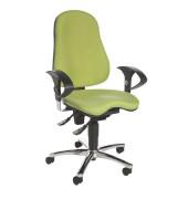 Bürodrehstuhl Sitness 10 mit Armlehnen grün