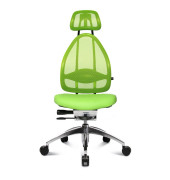 Bürodrehstuhl Open Art poliert ohne Armlehnen grün