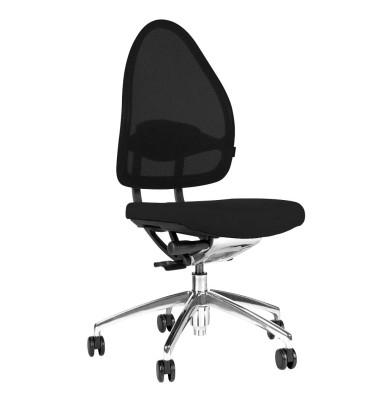 Bürodrehstuhl Open Base poliert ohne Armlehnen schwarz