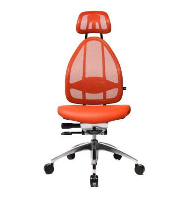 Bürodrehstuhl Open Art poliert ohne Armlehnen orange