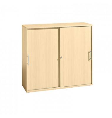 Aktenschrank FINO 1753S/3/3, Holz abschließbar, 3 OH, 120 x 110 x 40 cm, ahorn