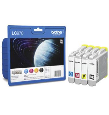 Druckerpatrone LC-970 schwarz / cyan / magenta / gelb 1x ca 350 Seiten / 3x ca 300 Seiten Multipack