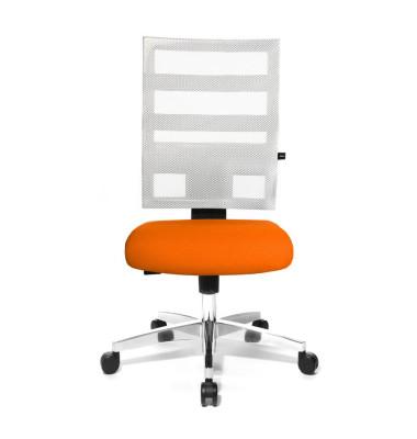 Bürodrehstuhl X-Pander ohne Armlehnen orange/weiß