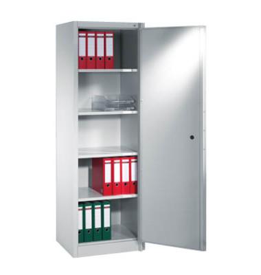 Sicherheitsschrank 1161-000, Stahl abschließbar + feuerfest, 5 OH, 65 x 195 x 50 cm, lichtgrau