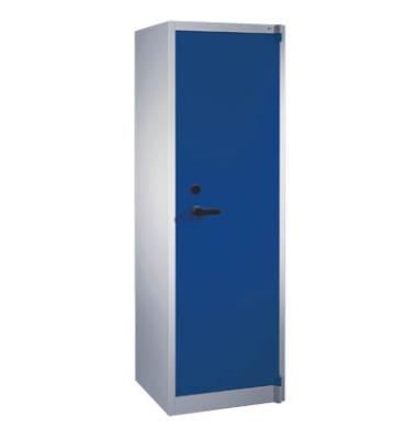 Sicherheitsschrank 1161-000, Stahl abschließbar + feuerfest, 5 OH, 65 x 195 x 50 cm, blau/lichtgrau