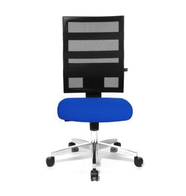 Bürodrehstuhl X-Pander ohne Armlehnen blau/schwarz