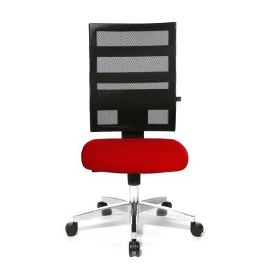 Bürodrehstuhl X-Pander ohne Armlehnen rot/schwarz