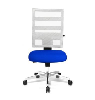 Bürodrehstuhl X-Pander ohne Armlehnen blau/weiß