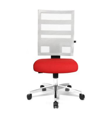 Bürodrehstuhl X-Pander ohne Armlehnen rot/weiß