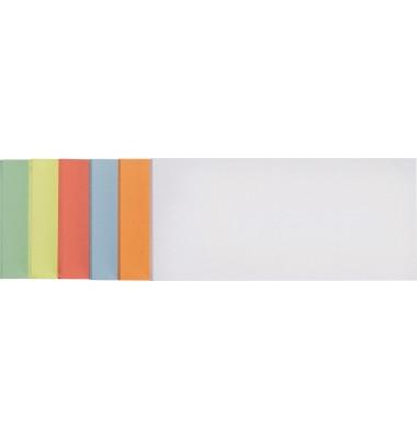 Moderationskarten Rechteck farbig sortiert 20,5x9,5cm 250 Stück