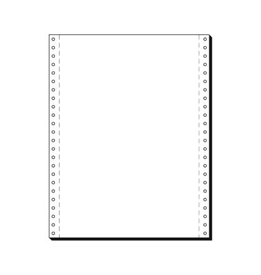 Endlospapier 91100, A4 hoch blanko, 1-fach, 12 Zoll x 240 mm, 2000 Blatt