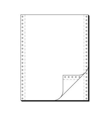 Endlospapier 91200, A4 hoch blanko, 2-fach, 12 Zoll x 240 mm, 1000 Sätze