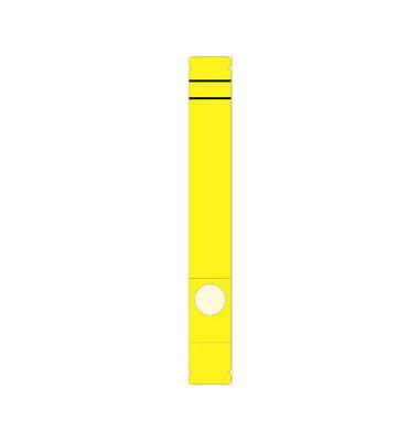 Rückenschilder 39 x 285 mm gelb zum aufkleben 10 Stück