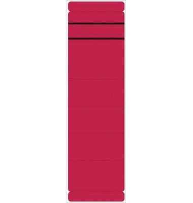 Rückenschilder 5846 59 x 190 mm rot 10 Stück zum aufkleben