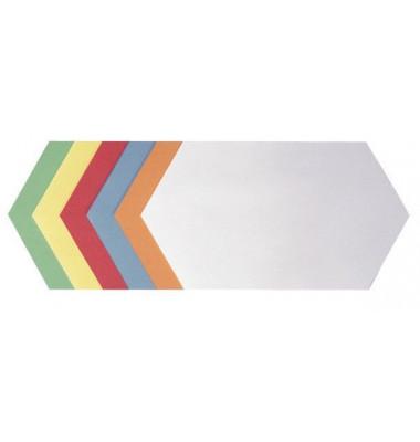 Moderationskarten Königswabe farbig sortiert 29,7x16,5cm 250 Stück