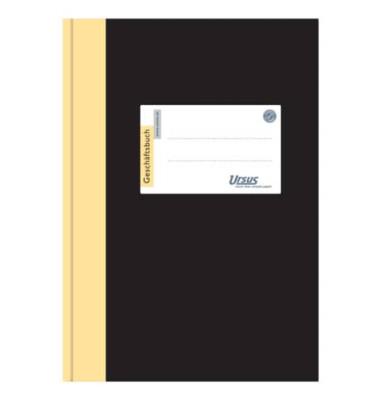 Geschäftsbuch A5 liniert 80g 96 Blatt 192 Seiten