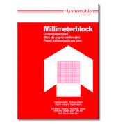 Millimeterpapier A4 rot/opak 80/85g 1mm-Teilung 50 Blatt
