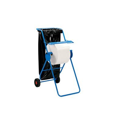 Kimberly-Clark Wischtuchbodenständer 6155 fahrbar mit Abfallsackhalter Stahl blau