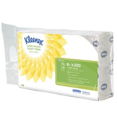 Toilettenpapier Ultra 8408 2-lagig 8x 200 Einzelblatt