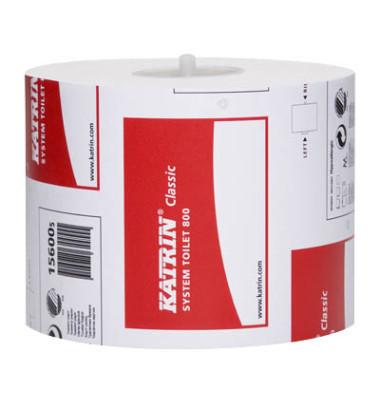 Toilettenpapier Classic System Toilet 800 156005 2-lagig
