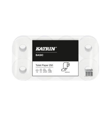 Toilettenpapier Basic Toilet 250 169505 2-lagig 8 Rollen