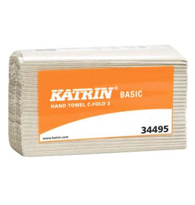 Papierhandtücher 344951 Basic C-fold 2 C-Falz 24 x 33 cm Tissue natur 2-lagig 3000 Tücher
