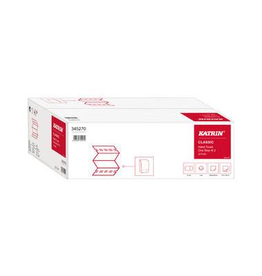 Papierhandtücher 345270 Classic One Stop M2 Interfold 21 x 25 cm Tissue weiß 2-lagig 3024 Tücher