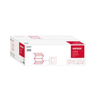 Papierhandtücher 345287 Classic One Stop M2 Interfold 20,6 x 25,5 cm Tissue weiß 2-lagig 3360 Tücher