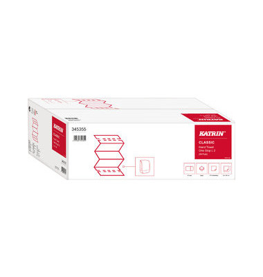 Papierhandtücher 345355 Classic One Stop L2 Interfold 20,6 x 34 cm Tissue hochweiß 2-lagig 2310 Tücher