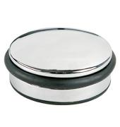 Türstopper chrom, flach mit Gummiri Maße/H/durchm.: ca. 4/10cm