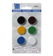 Magnete 682A rund sortiert D 24mm 6 St