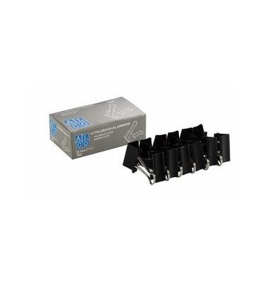 Foldbackklammern 783-11, 32mm, Metall schwarz, 12 Stück