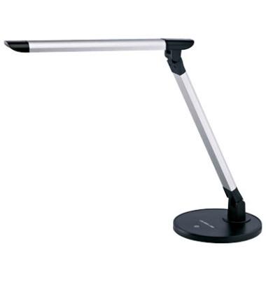 Tischleuchte LED, silber-schwarz, flexibel einstellbar, Touchfunktion
